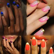 Bright painted nails !