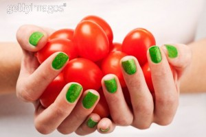 Green Spring nail trend