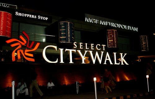 Top 10 Shopping malls in Delhi Select Citywalk Mall, Saket New Delhi