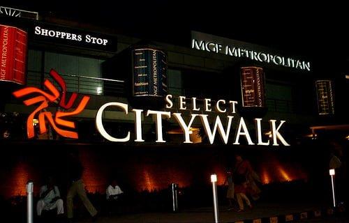 Top 10 Shopping malls in Delhi Select Citywalk Mall, Saket New Delhi